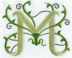 Designs at Embroidery Library! - Vines Alphabet