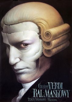 A Masked Ball / Un Ballo in Maschera poster for the opera of Giuseppe Verdi designer: Wieslaw Walkuski year: 1998 size: Ex Libris, Concert Posters, Movie Posters, Theatre Posters, Gig Poster, Retro Posters, Festival Posters, Ballet Posters, Polish Posters