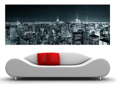 Panorama New York canvas oversized wall art... for reading room