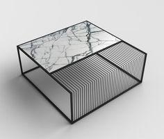 thedesignwalker: Marble  Metal coffee table