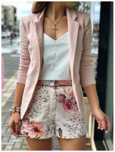 casual women work outfits for summer 13 Komplette Outfits, Blazer Outfits, Cute Casual Outfits, Short Outfits, Casual Chic, Stylish Outfits, Spring Outfits, Fashion Outfits, Womens Fashion