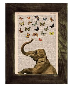 Elephant Counting Butterflies