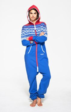 Marius Onesie Royal/Red/White