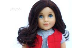 American Girl Doll Custom Marie-Grace w/ Ruthie black brown wig & blue eyes OOAK #DollswithClothingAccessories