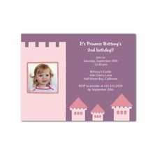 Rapunzel / Tangled Princess Tower  Birthday Party Invitations. Price: $0.59 ea.