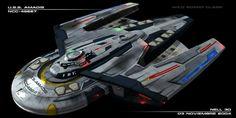 """""""Star Trek"""" Starfleet starship pictures and gifs. Spaceship Art, Spaceship Design, Spaceship Concept, Concept Ships, Star Trek Ii, Star Wars, Star Trek Ships, Trek Deck, Starfleet Ships"""