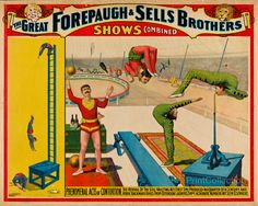 Vintage Adam Forepaugh & Sells Brothers Circus Poster