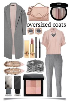 """Oversized Coat"" by ittie-kittie ❤ liked on Polyvore featuring Mother of Pearl, Isabel Marant, Topshop, Valentino, Karl Lagerfeld, Larkspur & Hawk, Edward Bess, Bobbi Brown Cosmetics, David Yurman and Yves Saint Laurent"