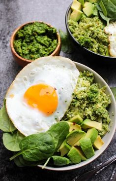 Fresh & Easy Pesto Cauliflower Rice Bowls | Make in 30 minutes or less | Low Carb + Whole30 Compliant + Paleo + Gluten Free