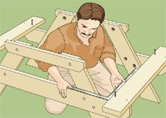 How to build a kid's picnic table