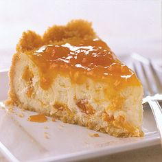 Cheesecake We made classic cheesecake an even sweeter dessert by putting apricots inside and an apricot glaze on top.We made classic cheesecake an even sweeter dessert by putting apricots inside and an apricot glaze on top. Amaretto Cheesecake, Pumpkin Cheesecake, Cheesecake Recipes, Classic Cheesecake, Cheesecake Desserts, Fun Desserts, Delicious Desserts, Dessert Recipes, Kraft Recipes