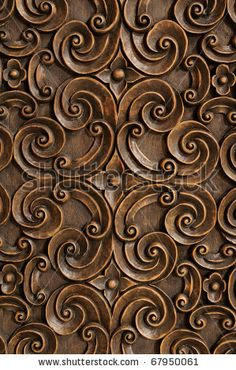 Stock Photo Wood Thai Pattern Handmade Carvings