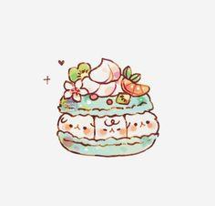 Cute Food Drawings, Cute Animal Drawings Kawaii, Cute Little Drawings, Cute Cartoon Drawings, Cool Art Drawings, Kawaii Drawings, Kawaii Faces, Kawaii Cat, Cute Food Art