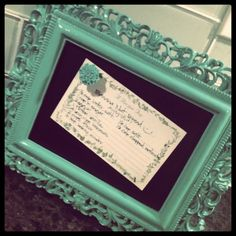 Magnetic frame board to hold photos, recipes, notes. Love this.