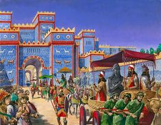 New Year's Day in Babylon (Original) (Signed) art by Peter Jackson at The Illustration Art Gallery