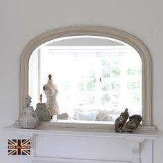 Find This Pin And More On Living Room Small Ivory Plain Beaded Overmantle Mirror