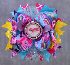 On auction until tomorrow only!! Starting at $7 Facebook.com/dakoatsbows     my little pony hair bow  on Etsy, $12.95