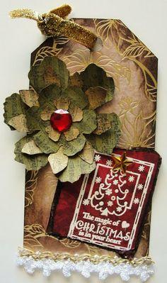 Poinsettia Christmas Tag...