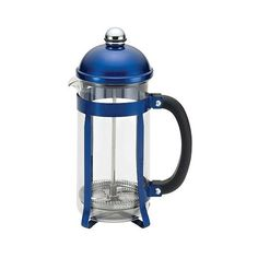 Bonjour 8-Cup Maximus French Press Blue (£29) ❤ liked on Polyvore featuring home, kitchen & dining and blue