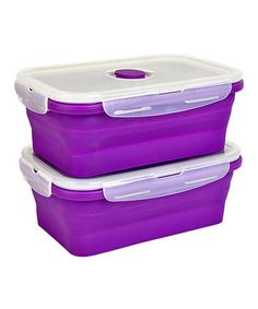 Loving this Purple Large Storage Container - Set of Two on #zulily! #zulilyfinds