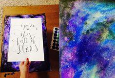 Teach and Shoot: Watercolor Galaxy Matte DIY