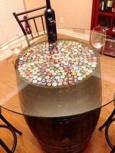 Creative idea to use wine barrel into table #DuVino #wine www.vinoduvino.com