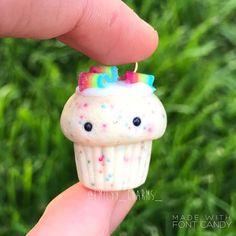 Rainbow funfetti cupcake DIY charm!