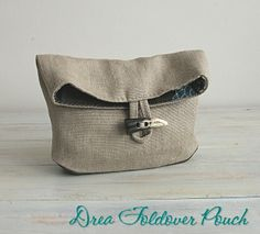 Foldover Pouch DREA PDF Sewing Pattern | Sewing Pattern | YouCanMakeThis.com