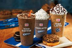 Dunkin Donuts Coffee Drinks - Oreo Chips Ahoy Coolatta | This summer Dunkin' Donuts will offer Oreo and Chips Ahoy Coolattas and iced coffee drinks. #refinery29 http://www.refinery29.com/2015/05/88281/new-dunkin-donuts-coffee-drinks-oreo-chips-ahoy