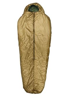 """Great warmth, roominess, a big foot box, and the ability to pack down to nothing. Less weight and bulk - in fact, the Slick Bag has the best warmth to weight ratio on the market. Degree Rating: + 40 Degree; +20 Degree; 0 Degree; -20 Degree. Color: Coyote Brown; Multicam. Length: Regular (6' 1""""); Long (6' 7""""). Width: Standard; Wide."""