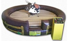 This mechanical bull inflatable looks so fun. I would love to rent this for the next party for my son. I bet his buddies would love this.
