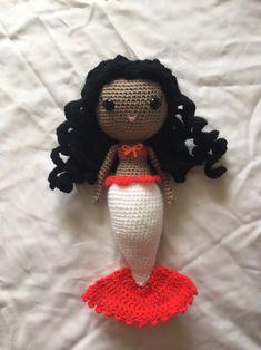 Excited to share this item from my shop: Mermaid Moana Crochet Doll Granny Square Afghan, Crochet Unicorn, Disney Dolls, Crochet Slippers, Moana, Crochet Hooks, Crochet Projects, Etsy Seller, Mermaid