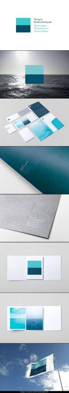 Folder designed by Neue for Oslo-based Norwegian Shipowners' Association. http://bpando.org/2011/05/18/branding-norwegian-shipowners-association/