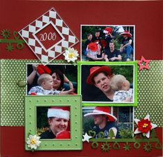 scrapbooking layouts | Don't you just love the ribbon? it is the Green Tara Christmas shapes ...