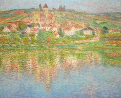 The Seine at Vétheuil - Claude Monet, 1901. Private Collection. #Monet Sotheby's to Auction Six More Monet Paintings http://www.wsj.com/articles/sothebys-to-auction-6-more-monet-paintings-1428014193
