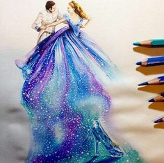 A lovely drawing from the new Cinderella movie