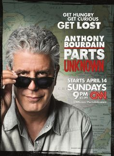 Anthony Bourdain Parts Unknown--if you haven't heard of it, watch it!  You will be entertained and learn something!