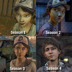 Whats ur favourite look? (of course our little Clem always looks beautiful ^^) Walking Dead Watch, Walking Dead Fan Art, The Walking Dead Telltale, Walking Dead Season 4, Clementine Walking Dead, Beyond Two Souls, Twd Memes, Think, Detroit Become Human