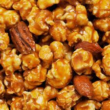 Carmel Corn with Candied Nuts