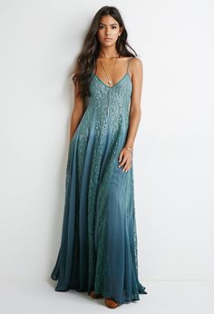 Lace-Paneled Maxi Dress | Forever 21 - 2000115596