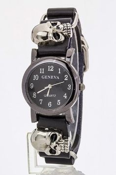 TRENDY FASHION Skull Wrap Watch BY FASHION DESTINATION Fashion Destination to enter online shopping or purchase click on Amazon right here http://www.amazon.com/dp/B00GPKU1CG/ref=cm_sw_r_pi_dp_INlWtb135J1YS5DT