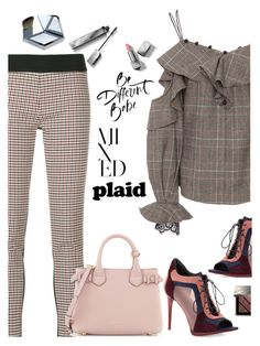 """""""Mixed Plaids"""" by juliehooper ❤ liked on Polyvore featuring self-portrait, STELLA McCARTNEY, Burberry, polyvoreeditorial and mixedplaids"""