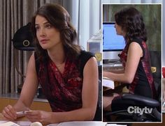 Robin's red and black sleeveless dress on How I Met Your Mother - currently on sale at Nordstrom for off! Robin Scherbatsky, Cool Outfits, Fashion Outfits, How I Met Your Mother, Professional Look, I Meet You, Helmut Lang, My Style, Stylish