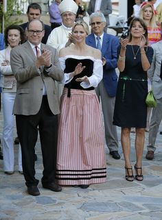 MYROYALS & HOLLYWOOD FASHİON: Monaco Royal Family attend the annual picnic at the Parc Princesse Antoinette in Monaco-Prince Albert, Princess Charlene, and Princess Caroline