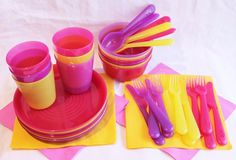 NEW IKEA KALAS BABY GIRLS KID PLASTIC BPA FREE KIDS PARTY FEEDING SET 36 PCE SET #IKEA