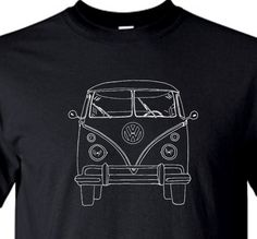 VDUBTEES VW T5   red T-Shirt  Ideal birthday gift or summer vw shows