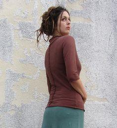 Warrior Shirt hemp/organic cotton knit by gaiaconceptions on Etsy, $85.00