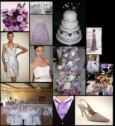 Lilac White and Silver Wedding Inspiration - Primadonnabride