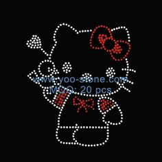 The Best Selling Products Made In China Kitty Hot Fix Rhinestone Transfer Motifs For DIY t-Shirts