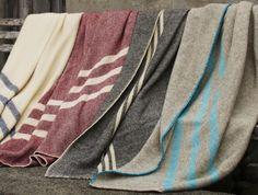 Canadian Striped Wool Blanket #throw #stripe #blanket #wool